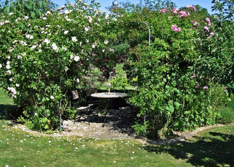 Entspannt das Sommerwetter genießen in unserem Bauerngarten