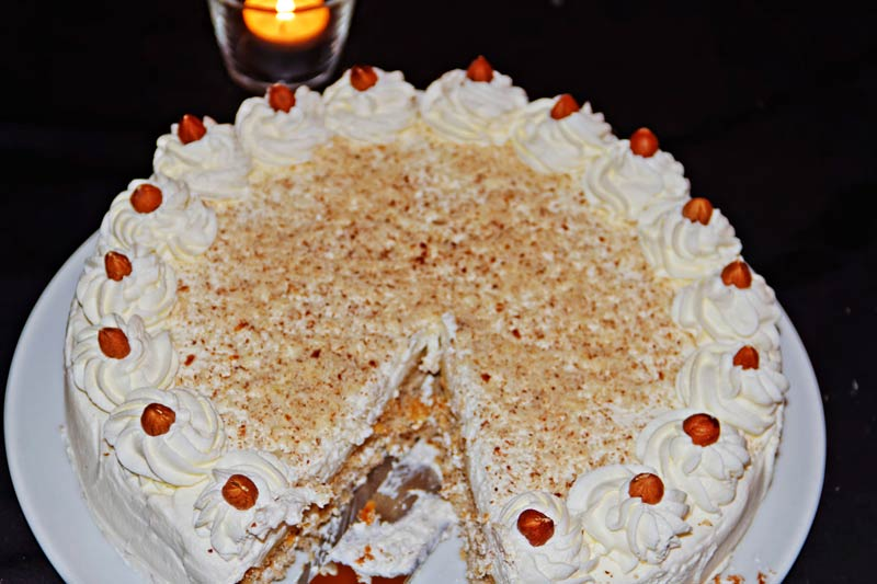 Selbstgebackene Torte