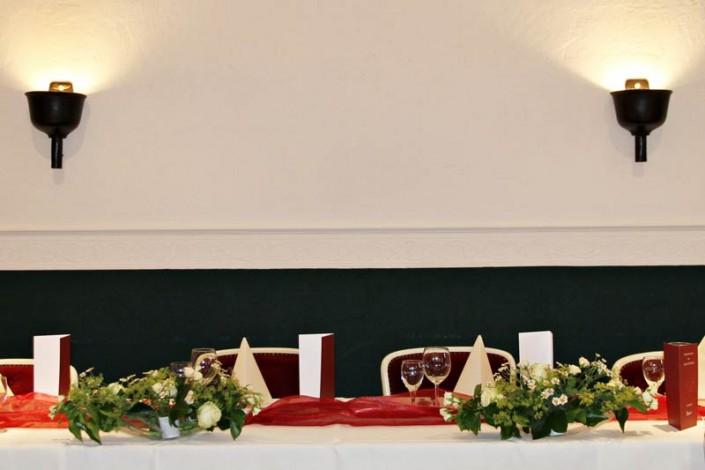 Gedeckt für eine Hochzeit