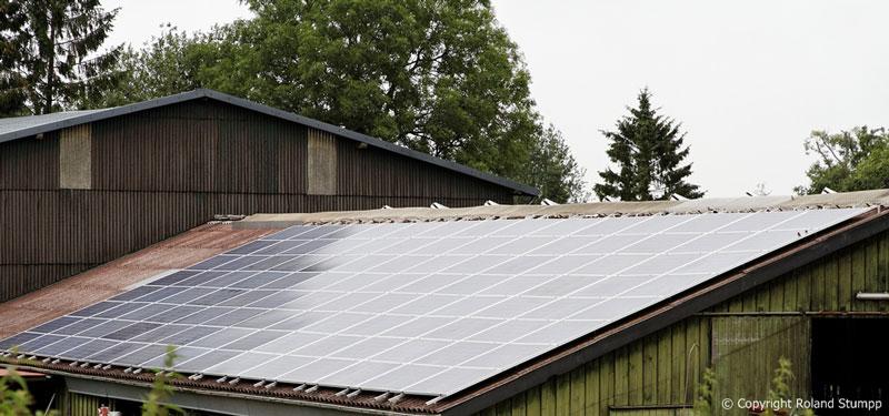 Photovoltaik Solaranlage auf Thomsens Farm